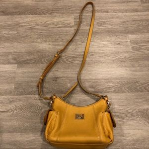 Dooney & Bourke Yellow Leather Crossbody Purse